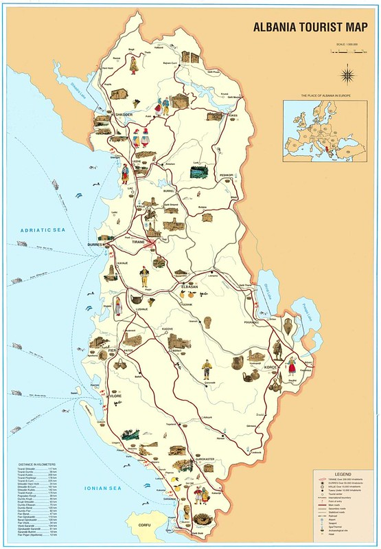 Touristic Map of Albania