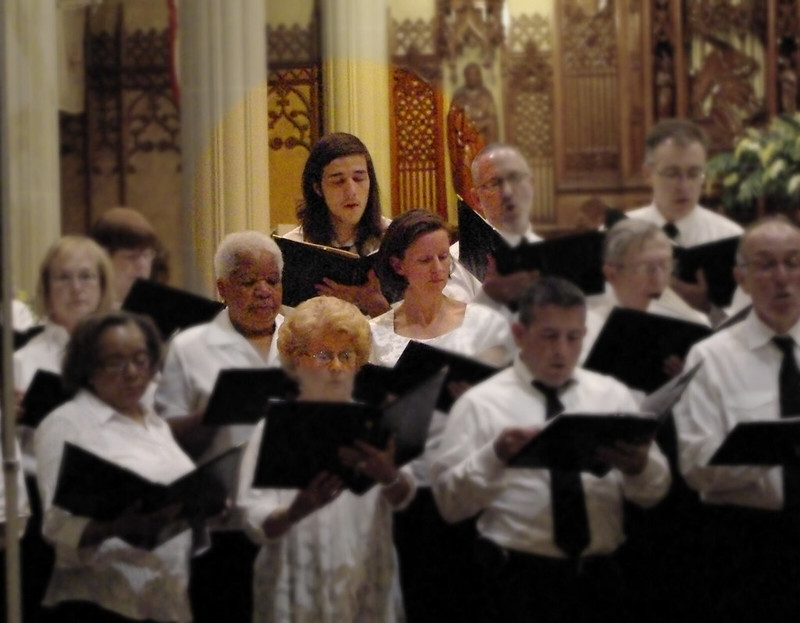 Gabe singing in the choir