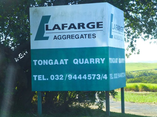 Lafarge is big down here, too.