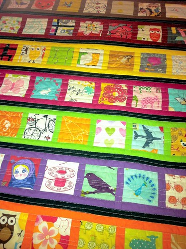 Miss E's Car Quilt Close up