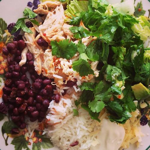 vegetarian burrito salad