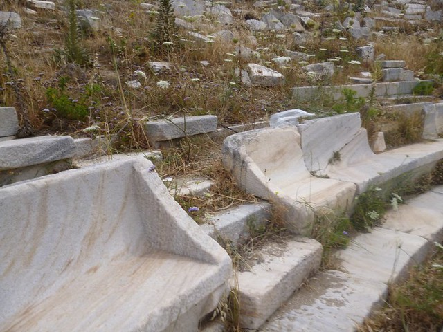 Theater seats on Delos island