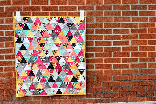 Nordika Triangle Baby Quilt by Jeni Baker