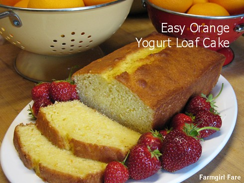 Easy orange yogurt loaf cake recipe - FarmgirlFare.com