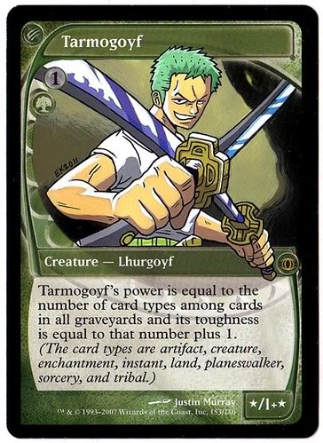 Tarmogoyf Magic Altered Art One Piece Eric Klug Magic the Gathering Art 塔莫耶夫 Тармогойф タルモゴイフ