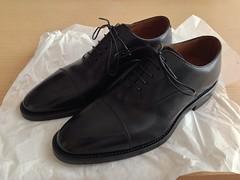 リーガル(REGAL)のゴアテックス・ストレートチップ黒革靴705RBH