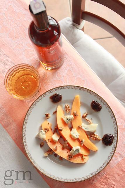 Dolce piccante al melone e gorgonzola
