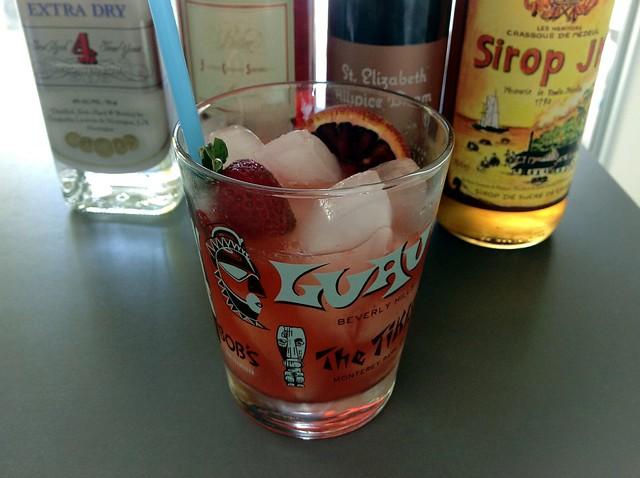 Louanalao (Richard Boccato): white rum, campari, allspice dram, lime juice, cane syrup, muddled strawberry