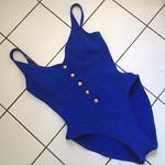 Vintage blue anchor swimsuit