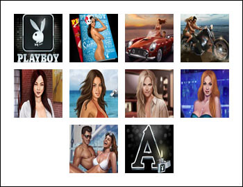 free Playboy slot game symbols