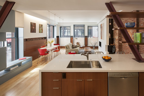 JW-Hart posted a photo:Interior apartment unit of Hayden Building by CUBE design + research. National Landmark 1875 by Henry Hobson Richardson.www.CUBEdesignResearch.com, copyright.