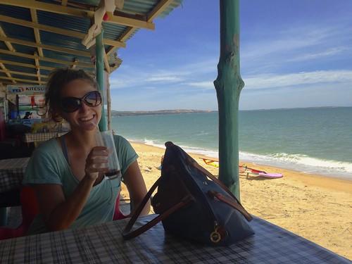 Enjoying a coffee just off the beach in Mui Ne