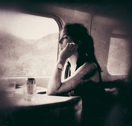 Girl on a train by Davide Restivo