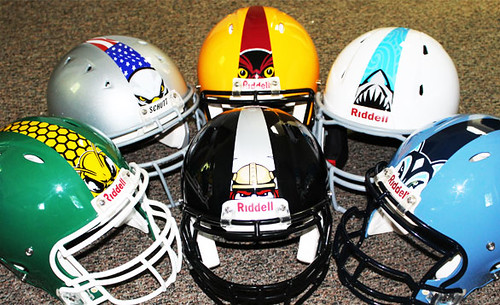 Mascot Stripe Football Helmets