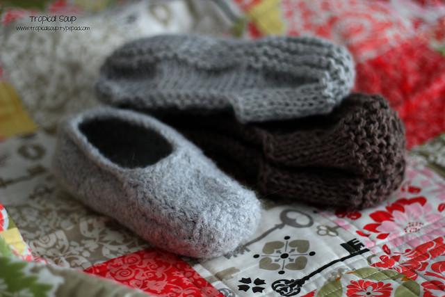 felt slipper pile