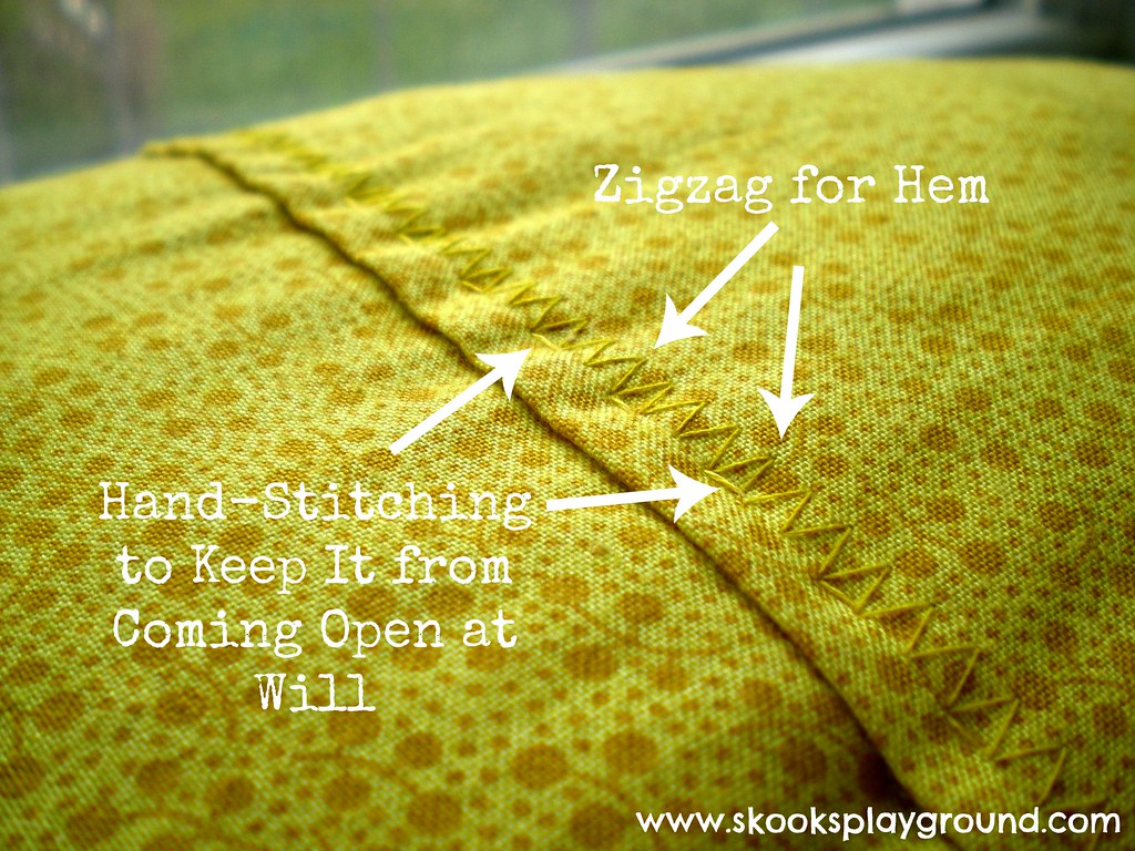 Hand stitching detail