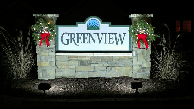 Christmas Decorations For Neighborhood Entrances : Subdivision monument entrance sign by strata custom