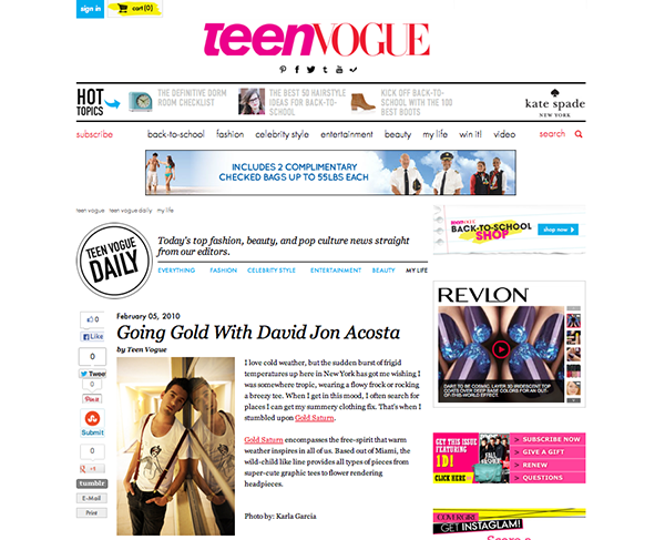 Teen Vogue - Gold Saturn
