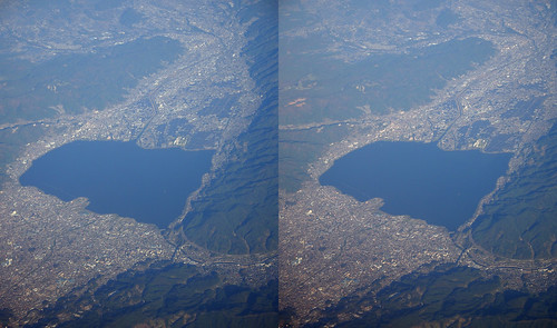 Lake Suwa, stereo parallel view
