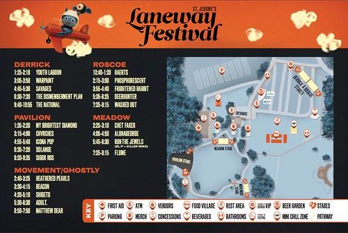 Laneway Map and Schedule