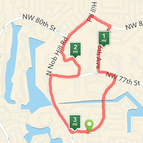 Our #5K route that we took yesterday!