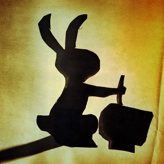Moon Rabbit Shadow Puppet