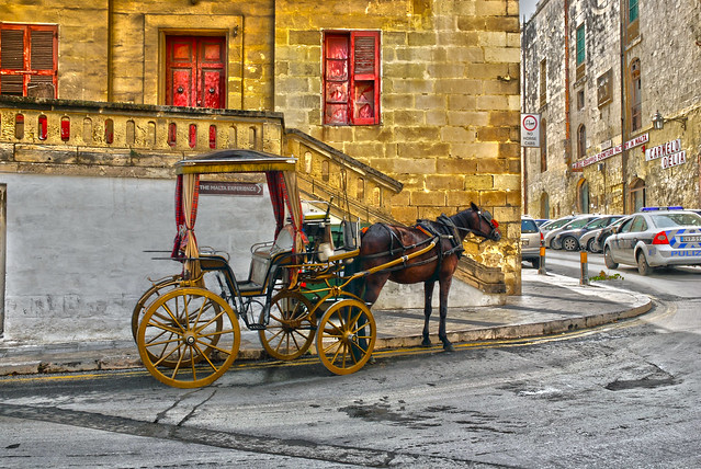 HDR horse and carriage