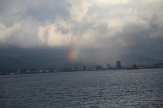 宍道湖にかかる虹