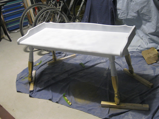 primed bench gold legs