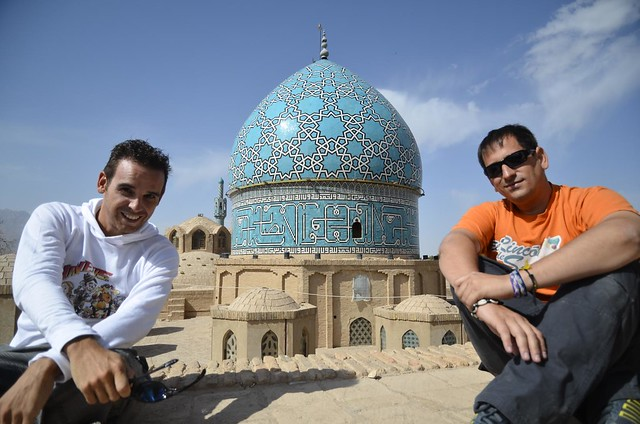 Isaac (Chavetas) y Sele (El rincón de Sele) en Mahan (Irán)