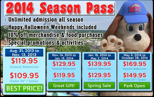 2014 Season Passes at Holiday World