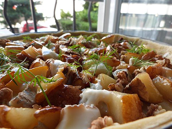 POires, gorgonzola et noix