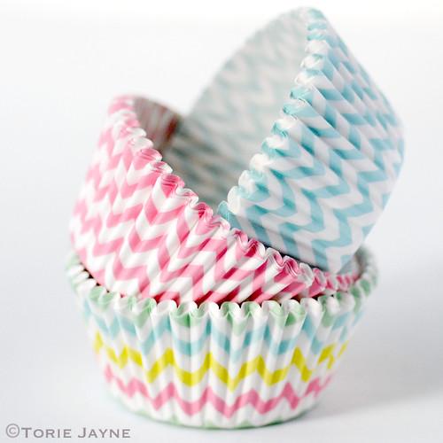 Chevron cupcake cases
