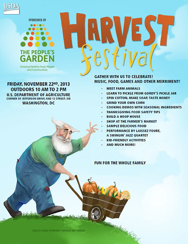 The People's Garden Harvest Festival poster. Click to enlarge for larger version.