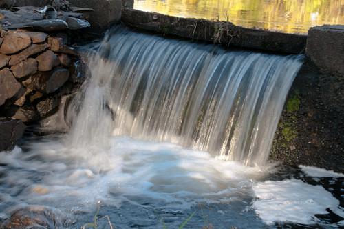 autumn waterfall massachusetts