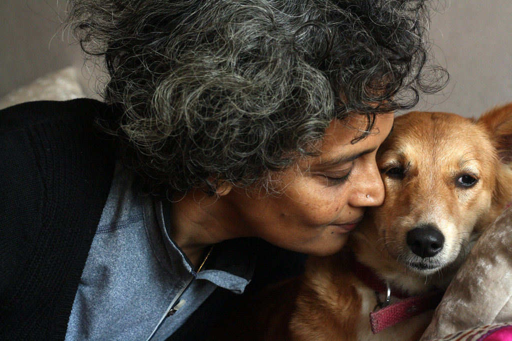 City Sighting – Arundhati Roy, Somewhere in Delhi