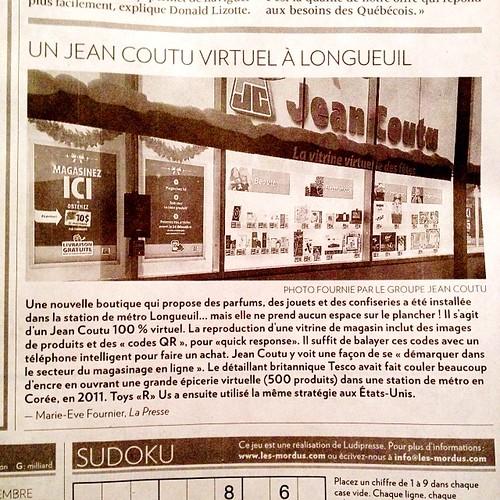 Virtual store à Longueuil pour Jean Coutu #omnichannels