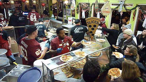 Alfred Morris Serves Pizza