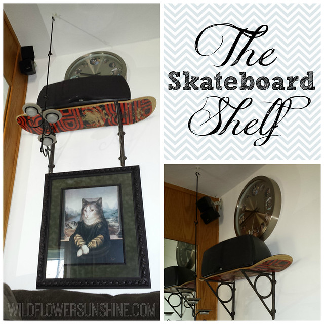 Skateboard Shelf Collage