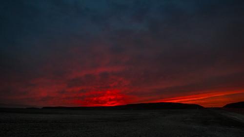 blue winter sunset red sky orange color silhouette night landscape twilight sand hills paloalto barren baylands byxbeepark s100