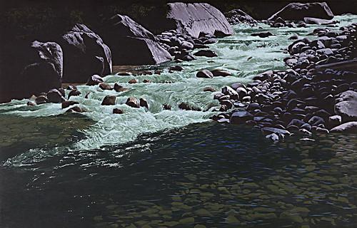 canada creek painting landscape bc britishcolumbia 1994 waterscape ladybirdcreek