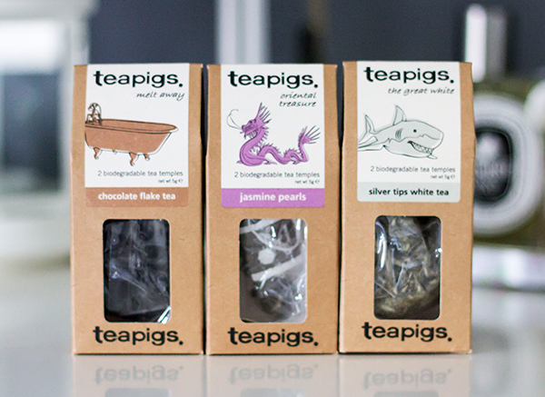 teapigs mix n match chocolate flake tea, jasmine pearls and silver tips white tea
