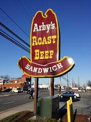 Vintage Arby's sign in Laurel, Maryland
