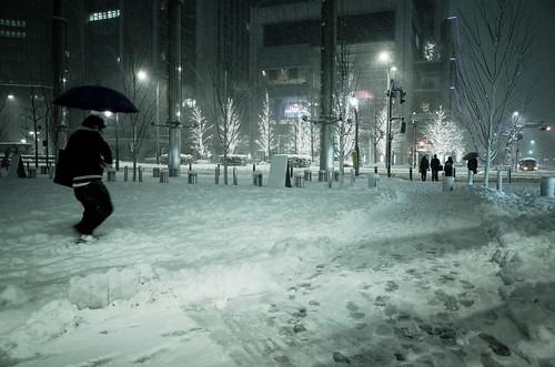 snowstorm at Yurakucho 02