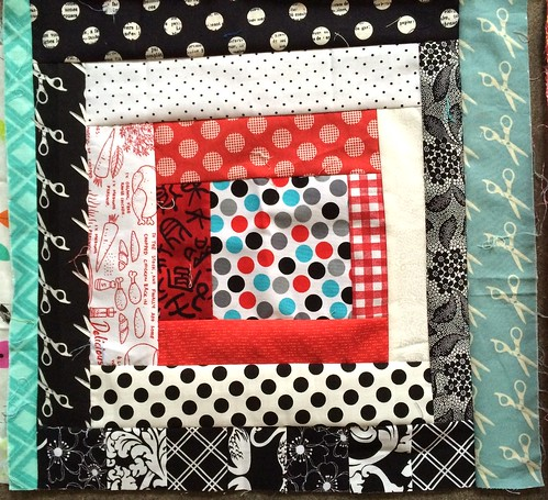 Red/Teal/Black Scrapbusting Block