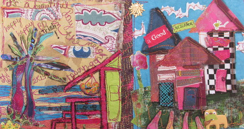 It's a Beautiful Day in the Neighborhood card…sewn together...