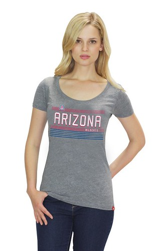 University of Arizona Womens Gray T Shirt