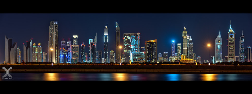 Dubai International Financial Center Skyline