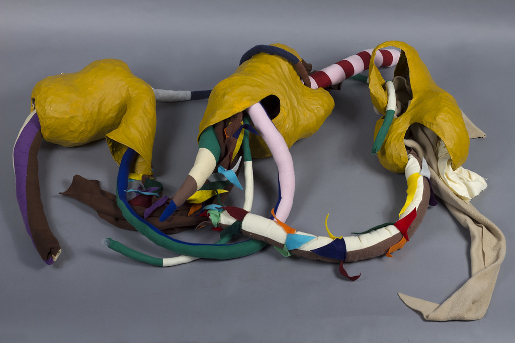 Angela Pulvere Who am I going to stick my... (installation) Chicken Wire, Paper Mache, Acrylic Paint, Felt 2012