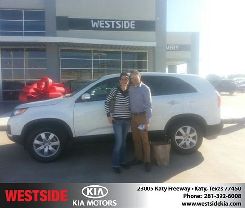 Thank you to Felipe Padilla on your new 2012 #Kia #Sorento from Rubel Chowdhury and everyone at Westside Kia! #NewCarSmell by Westside KIA